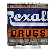 Rexall Drugs Shower Curtain