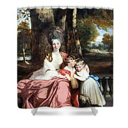 Reynolds' Lady Elizabeth Delme And Her Children Shower Curtain