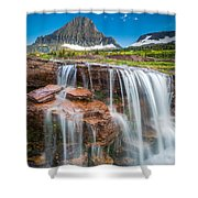Reynolds Mountain Falls Shower Curtain