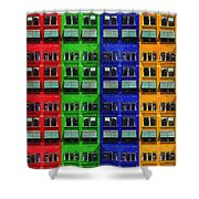 Rgby - Downtown Apartments Shower Curtain