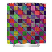 Rgby Squares II Shower Curtain