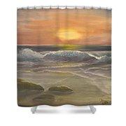 Rhapsody Of Waves Shower Curtain