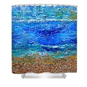 Rhapsody On The Sea Square Crop Shower Curtain