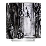 Rheims Cathedral, Scene From St Joan Shower Curtain