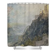 Rheinfels Looking To Katz And Gourhausen Shower Curtain