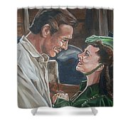 Rhett And Scarlett Shower Curtain