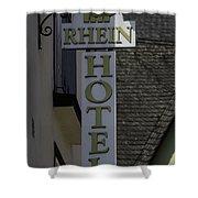 Rhine Hotel St Martin Sign  Shower Curtain