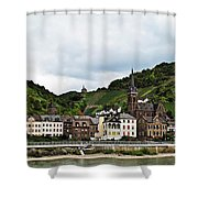 Rhine River View Shower Curtain