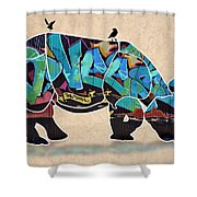 Rhino 2 Shower Curtain
