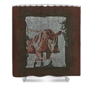 Rhinoceros Shower Curtain
