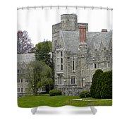 Rhoads Hall Bryn Mawr College Shower Curtain by Georgia Fowler