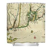 Rhode Island 1780 Shower Curtain