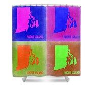 Rhode Island Pop Art Map 2 Shower Curtain