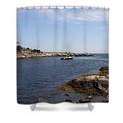 Rhode Island Seascape And House Shower Curtain