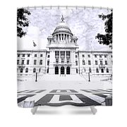 Rhode Island State House Bw Shower Curtain