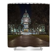 Rhode Island State House In Providence Rhode Island Shower Curtain