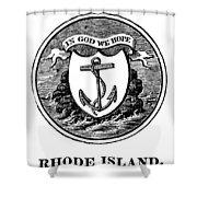 Rhode Island State Seal Shower Curtain