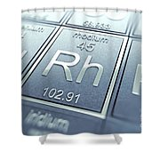 Rhodium Chemical Element Shower Curtain