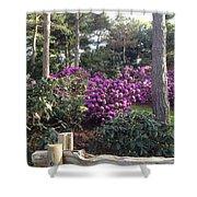 Rhododendron Garden Shower Curtain