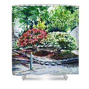 Rhododendrons In The Yard Shower Curtain