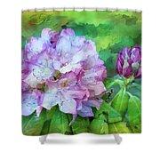Rhododendrum Shower Curtain