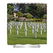 Rhone American Cemetery Shower Curtain