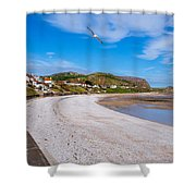Rhos On Sea Shower Curtain
