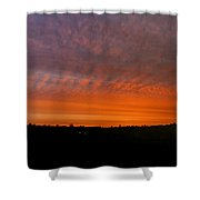 Rhymney Valley Sunrise Panorama Shower Curtain