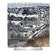 Rhymney Valley Winter 2 Shower Curtain