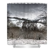 Rhymney Valley Winter 5 Shower Curtain
