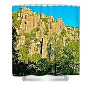 Rhyolite Columns On Ed Riggs Trail In Chiricahua National Monument-arizona Shower Curtain