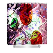 Rhythem Of Change II Shower Curtain