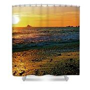 Rialto Beach Sunset Olympic National Park Shower Curtain