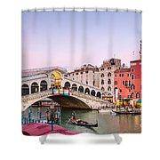 Rialto Bridge At Sunset - Venice Shower Curtain
