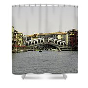Rialto Bridge Venice Shower Curtain