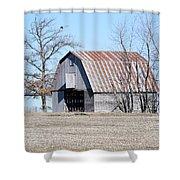 Ribbon Roof Crib Shower Curtain