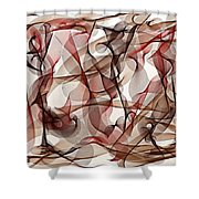 Ribbons Of Life Shower Curtain