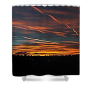 Ribbons Of Light Panorama Shower Curtain