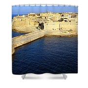Ricasoli Breakwater At Valletta's Grand Harbor Shower Curtain