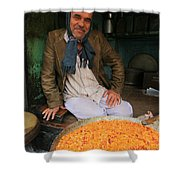 Rice And Bean Seller Shower Curtain