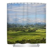 Rice Farming In China Shower Curtain