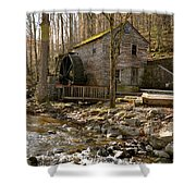 Rice Grist Mill And Threshing Barn  Shower Curtain