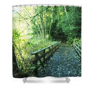 Rice Lake In North Vancouver Shower Curtain