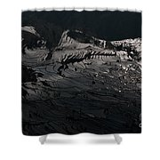 Rice Terrace In Black And White Shower Curtain