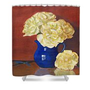 Rich Peonies Shower Curtain