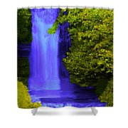 Rich Purple Wateful In The Spring Shower Curtain
