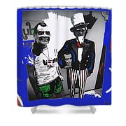 Richard Nixon Masks Uncle Sam Collage  Democratic National Convention Miami Beach Florida 1972-2008 Shower Curtain