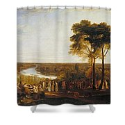 Richmond Hill On The Prince Regent's Birthday Shower Curtain