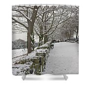 Richmond Hill Snow Shower Curtain