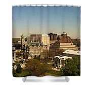 Richmond Virginia - Old And New Capitol Buildings Shower Curtain
